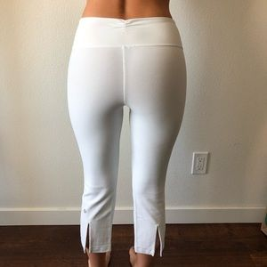 Lululemon White Cropped Yoga Pants